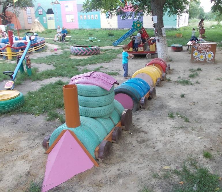 Благоустроить детскую площадку своими руками 66